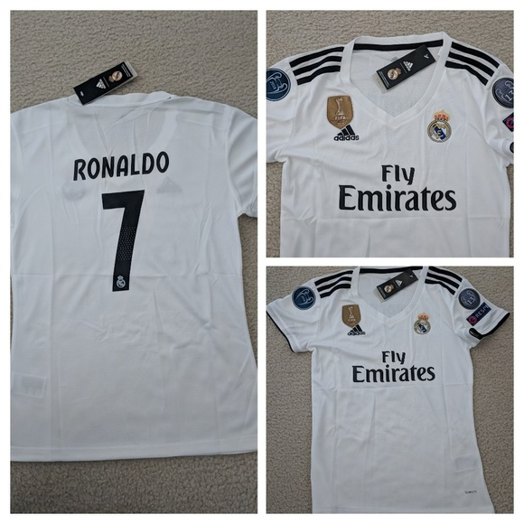 low priced 6df76 685f4 Real Madrid Cristiano Ronaldo #7 white jersey NWT